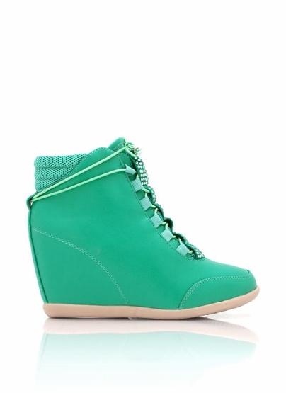 embellished wedge sneakers
