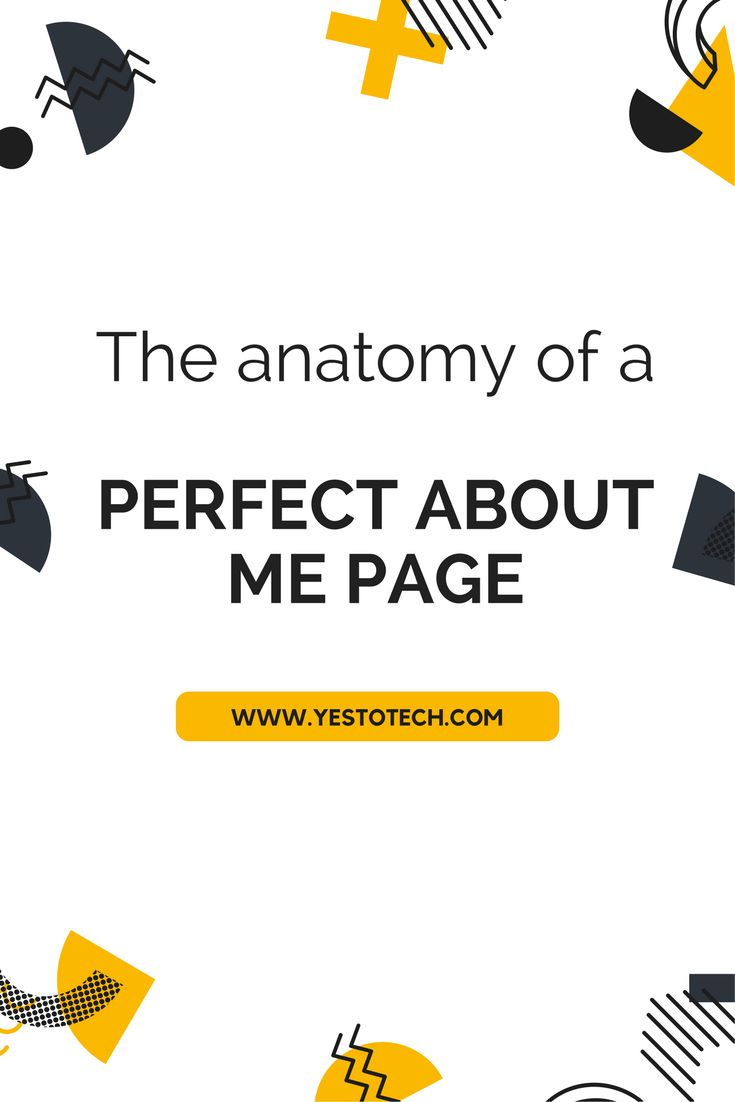 The Anatomy Of A Kickass About Me Page. The About Me page on your website is where your visitors will go to get a taste of 'the face' behind 'the business'. Learn how to write a kickass about me page. about me page | about me page examples | about me page template | about me page for kids | about me page blog | About Me Page / Self Portrait Ideas | about me page | About me page