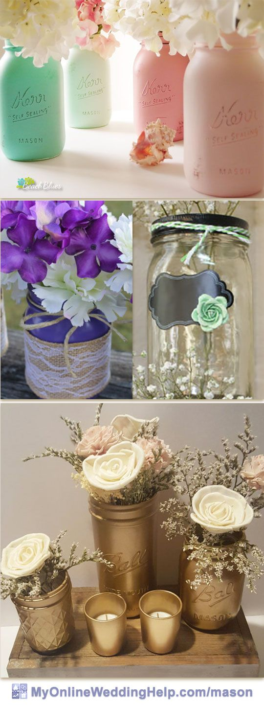 Diy wedding centerpieces a collection of ideas to try for Mason jar wedding centerpiece ideas