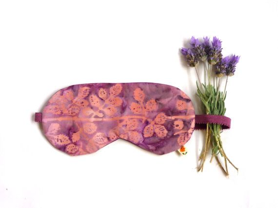 This looks wonderfully comfortable and so relaxing. Batik sleep mask silk and cotton sleep mask pink by maplemist