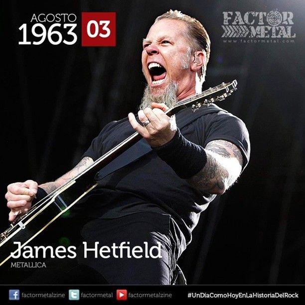 #UnDíaComoHoyEnLaHistoriaDelRock nace en 1963 James Hetfield vocalista y guitarrista de Metallica además de ser su compositor principal y co-fundador. #Metallica #jameshetfield #hbd #FactorMetal