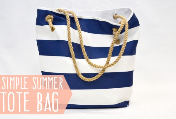 DIY: simple summer tote bag with rope handles