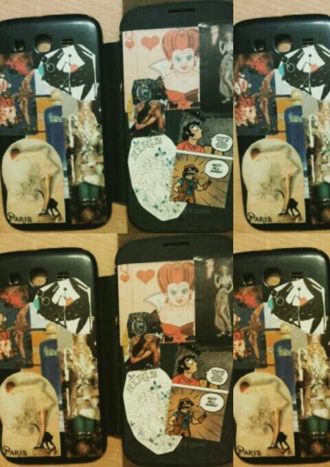 Collage on a phone cover.