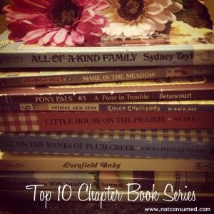 Ten Chapter Series Books for kids-many of these we already own, but there's some good new suggestions