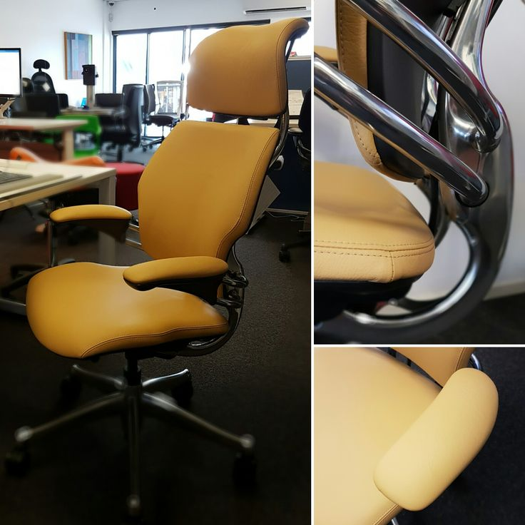 The Excecutve Liberty Headrest has  won 10 different design awards including the Design Distinction Award in the ID Design Review 2000 competition. The Chair features weight-sensitive recline and synchronously adjustable armrests which keep the sitter exceptionally comfortable while also lowering the risk of long-term injury. #custom #libertychair #leather  seated.com.au