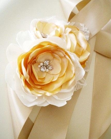 wonderful belts wedding dresses floral sash belt crystal bridal dress sashes champagne