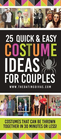 Quick And Easy Costume Ideas For Couples- 25 of the most creative and quick costume ideas for couples that are not only super creative but also EASY to prep!