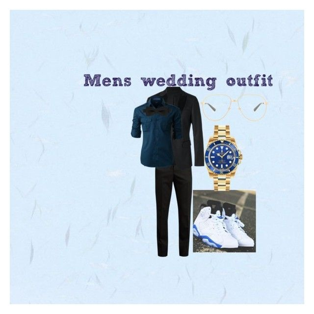 """Mens wedding outfit"" by jordan23-624 on Polyvore featuring Yves Saint Laurent, Dsquared2, LE3NO, Rolex, Gucci, men's fashion and menswear"