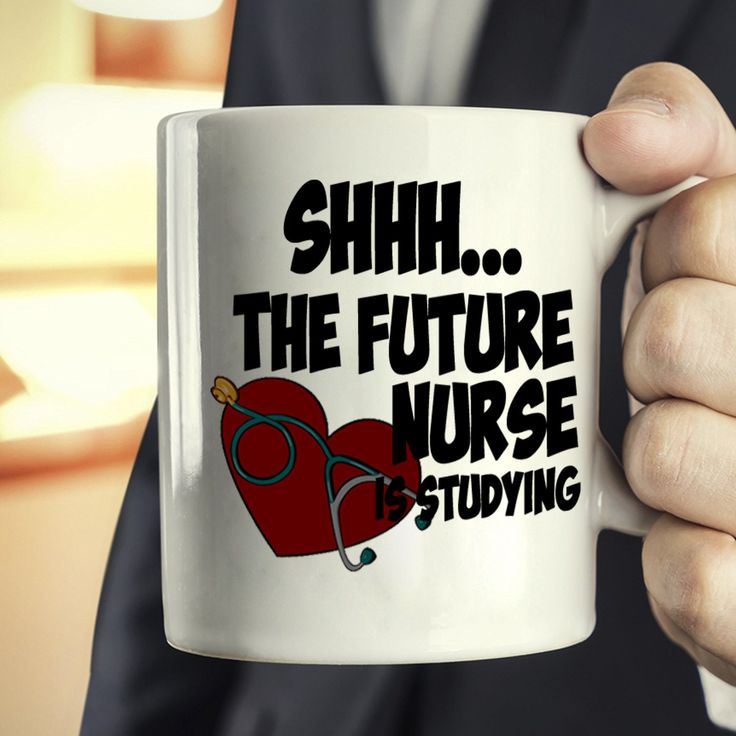 Funny College Nursing Student Gifts Coffee Mug Shhh The Future Nurse Is Studying, Printed on Both Sides!