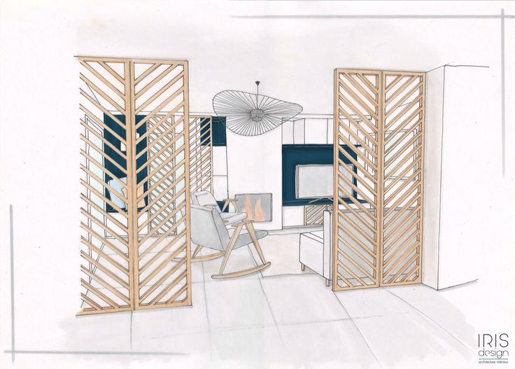 comment rendre un salon plus cosy et cocooning utilisation de claustra pare vent en bois. Black Bedroom Furniture Sets. Home Design Ideas