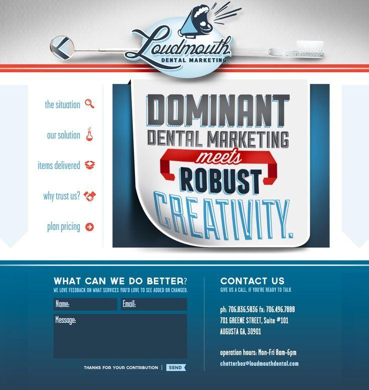 Loudmouth Dental Website #website #design #marketing