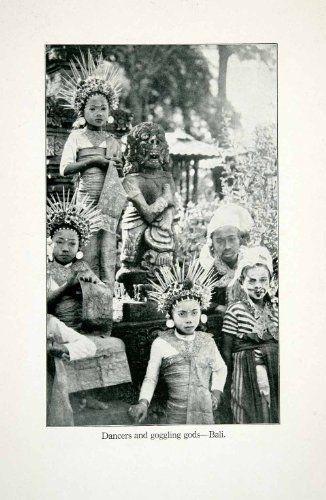 1923 Print Balinese Dancers Costumes Goggling Gods Hinduism Vedic Indonesia Bali - Original Halftone Print Period Paper http://www.amazon.com/dp/B008082R0U/ref=cm_sw_r_pi_dp_8yeEvb0NHZGKH