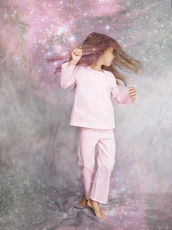 Beautifully shot kids luxury nightwear by Amiki from Estonia