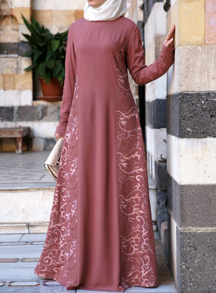 SHUKR USA | Arabesque Embroidered Gown // it's so pretty in grey!!!