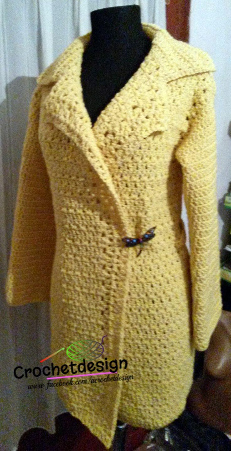 Crocheted nice yelow cardigan