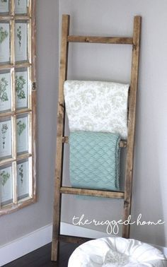 make a rustic ladder for 7 dollars , home decor, how to, pallet, plumbing, repurposing upcycling, rustic furniture, tools, woodworking projects.  DIY and Make Your Own