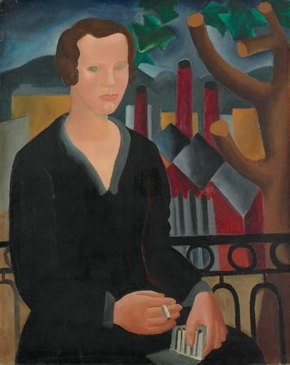 Girl with Cigarette (1927) by Christopher Wood