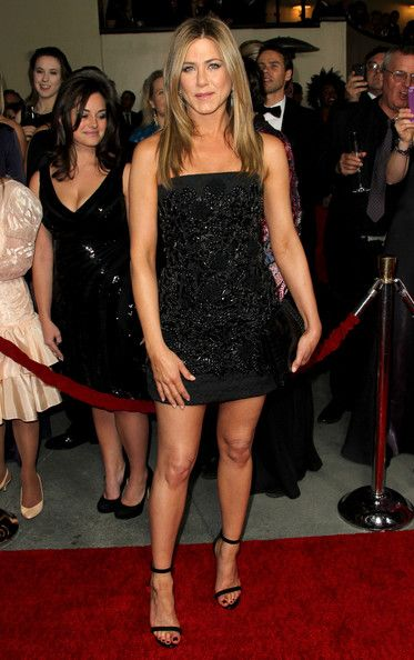 Jennifer Aniston Beaded Dress - Jennifer Aniston showed the power of her minimalist style in this beaded LBD.