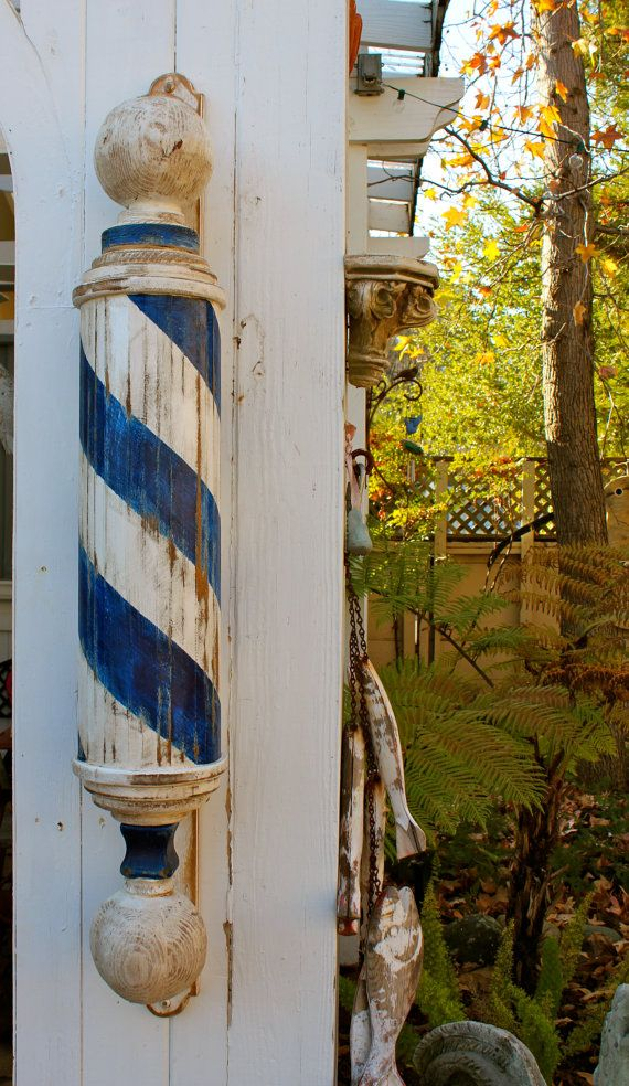 Wooden Barber Pole - Wood Barberpole - Handmade - Mikesbarberpoles on Etsy, $500.00
