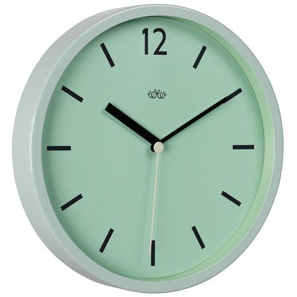 Wild Wood Wall Clock - Swedish Green - mint designer wall clock