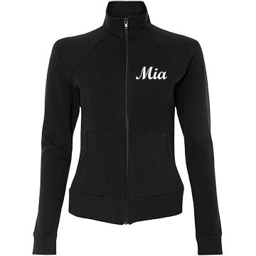 Women's warm up jacket | Ladies Junior fit warm up jacket with full zip. Back says Munster Cheer, front has name. Customize to fit your needs!