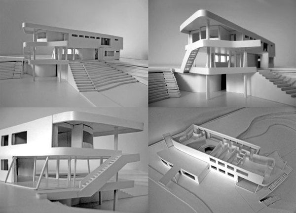 Schminke House by Hans Scharoun - Scale model