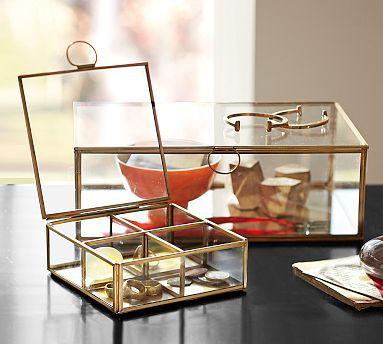 Callie Glass Desk Boxes l Pottery Barn
