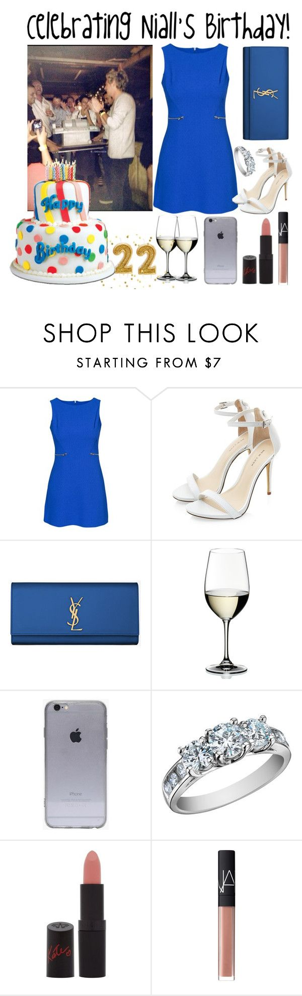 """Celebrating Niall's Birthday!"" by directionermixer01 ❤ liked on Polyvore featuring New Look, Yves Saint Laurent, Riedel, Rimmel and NARS Cosmetics"