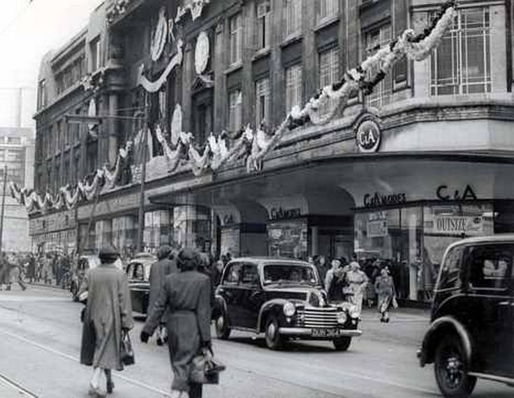 C & A store Church Street Liverpool decorated for the coronation in 1953