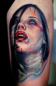 LA Ink Tattoo Zombie Girl
