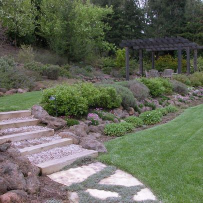 32 best sloped back yard ideas images on pinterest - What to do with a sloped yard ...
