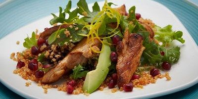 Warm Chicken Salad with Quinoa and Pomegranate - lifestyle.com.au