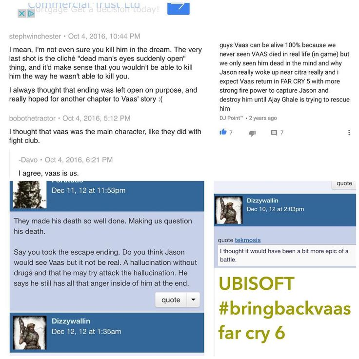 we want vaas back in far cry 6 all far criers use this hashtag #bringbackvaas when posting far cry 3 related posts or add it to any other - just try to stick to one post a day if not really related one pic a day means a lot when we unite  #ubisoft #ubisoftgames #games #gamers #gaming #farcry #farcryprimal #farcry3 #farcry4 #farcry5  #vaas #pcgames #pc #assasinscreed #xbox #playstation  #spidermanhomecoming #spiderman #nachovarga #vaasmontenegro #farcry6 #shooting #uncharted #sony #gamergirl…