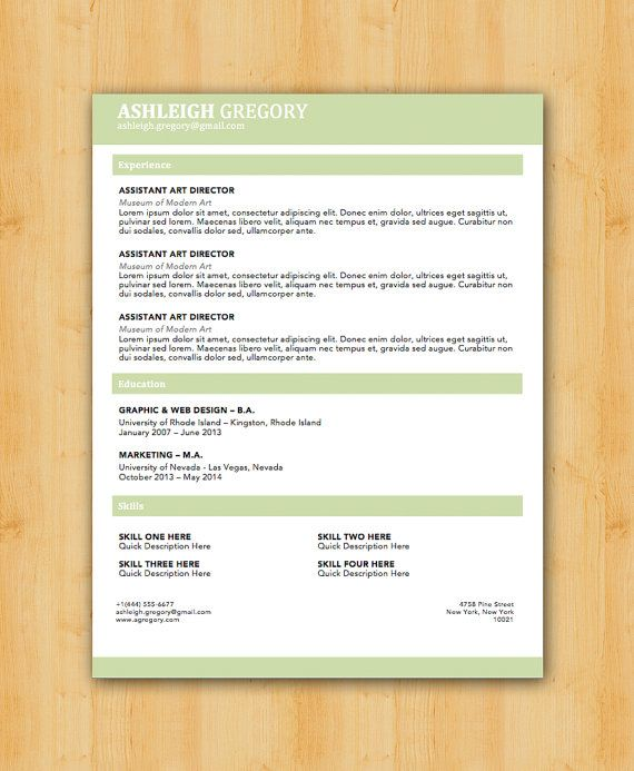 42 best Our Resume Templates images on Pinterest Resume - resume format on microsoft word 2007