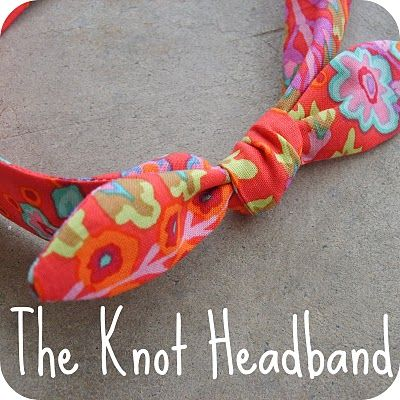 "The Knot Headband: Sewing Required  -lightweight fabric (about 1/16 of a yard)    -4 1/2"" of 1/2"" wide elastic  -2 medium size safety pins  -measuring tape   -other general sewing supplies"