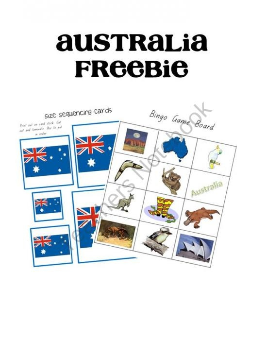 Australia Day Freebie product from A-Moment-In-Our-World on TeachersNotebook.com