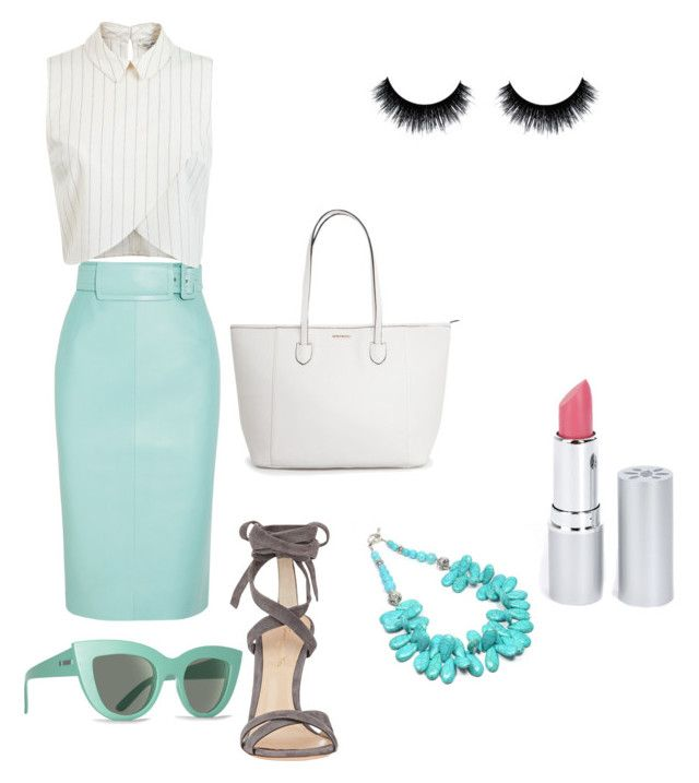 Untitled #50 by taylaneylul on Polyvore featuring polyvore, fashion, style, Miss Selfridge, Balenciaga, Gianvito Rossi, Billabong and HoneyBee Gardens