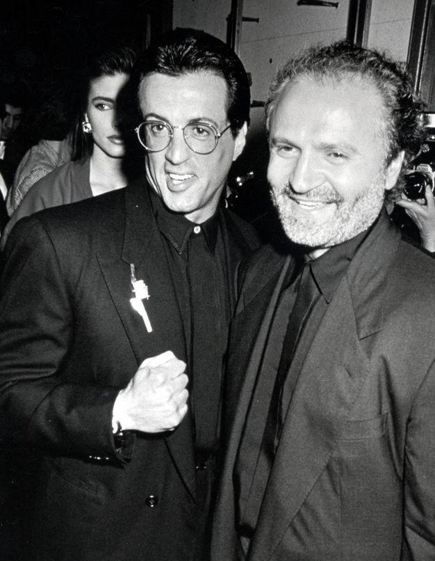 Sylvester Stallone et Gianni Versace