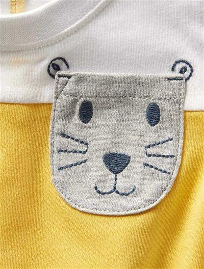 T-shirt bicolore jaune/blanc bébé garçon JAUNE / BLANC - vertbaudet enfant