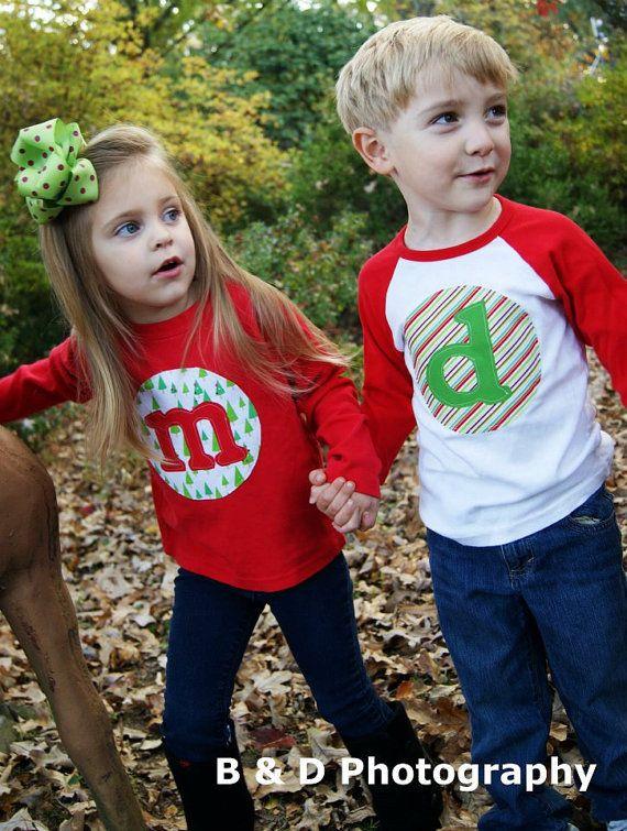 Personalized Christmas Shirt - Custom Holiday Shirt- You Choose Fabrics, Shirt Color and Sleeve Length on Etsy, $20.00