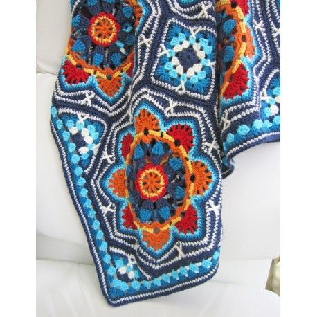 Persian Tile crochet kit based on the Jane Crowfoot 2013 Crochet Club project