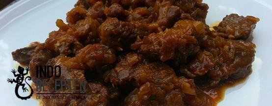 Belancang Dua - Gestoofd rundvlees in een kruidige saus