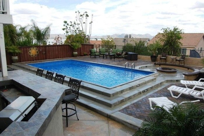 25 best ideas about semi inground pools on pinterest for Semi concrete house