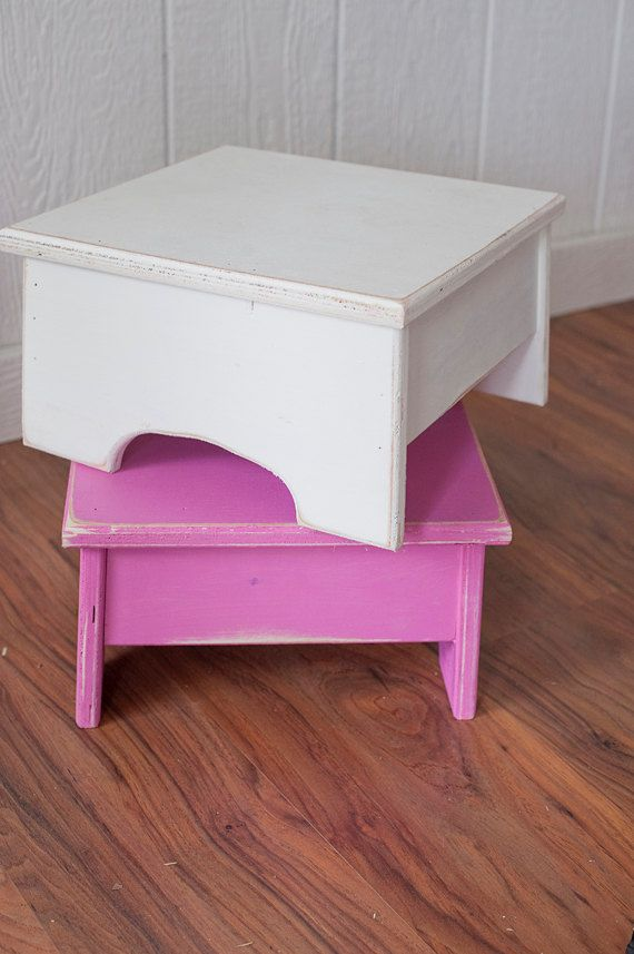 small step stool by on etsy