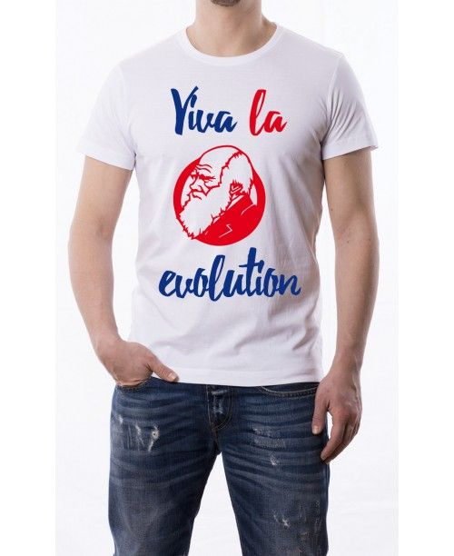 T Shirt Viva la evolution - Darwin