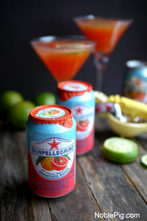 Summertime Blood Orange Martini from NoblePig.com.