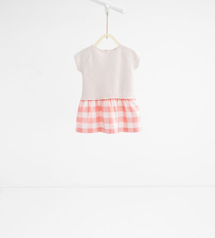 Printed dress with striped skirt-DRESSES AND JUMPSUITS-BABY GIRL | 3 months-3 years-KIDS | ZARA United States