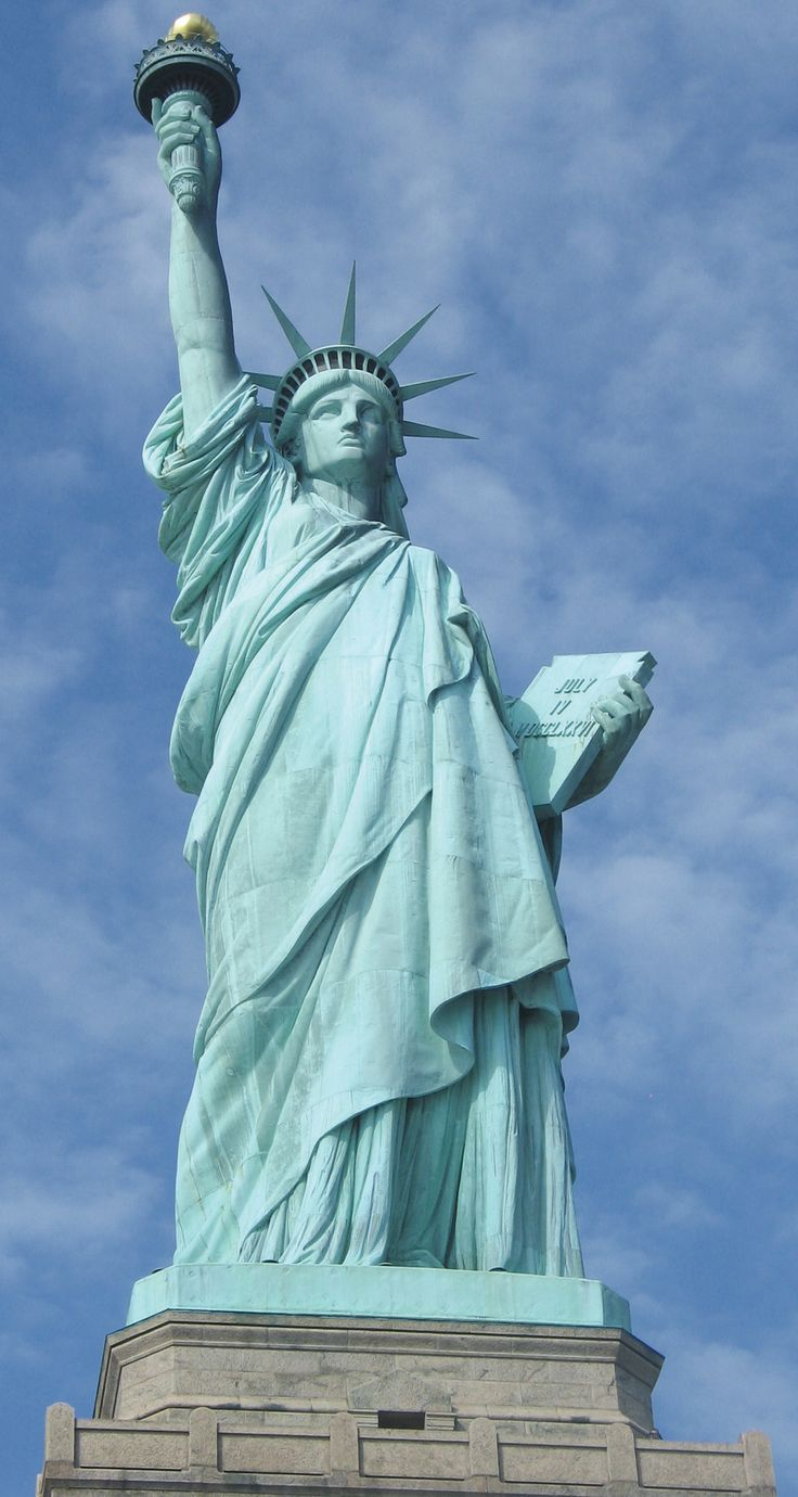 The Statue of Liberty, she isn't a soldier, or a symbol of power, but rather a hope, a dream, and a passion for freedom, and the right to pursue our own lives.