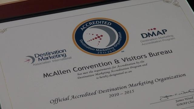 McAllen CVB is awarded DMAI Certification