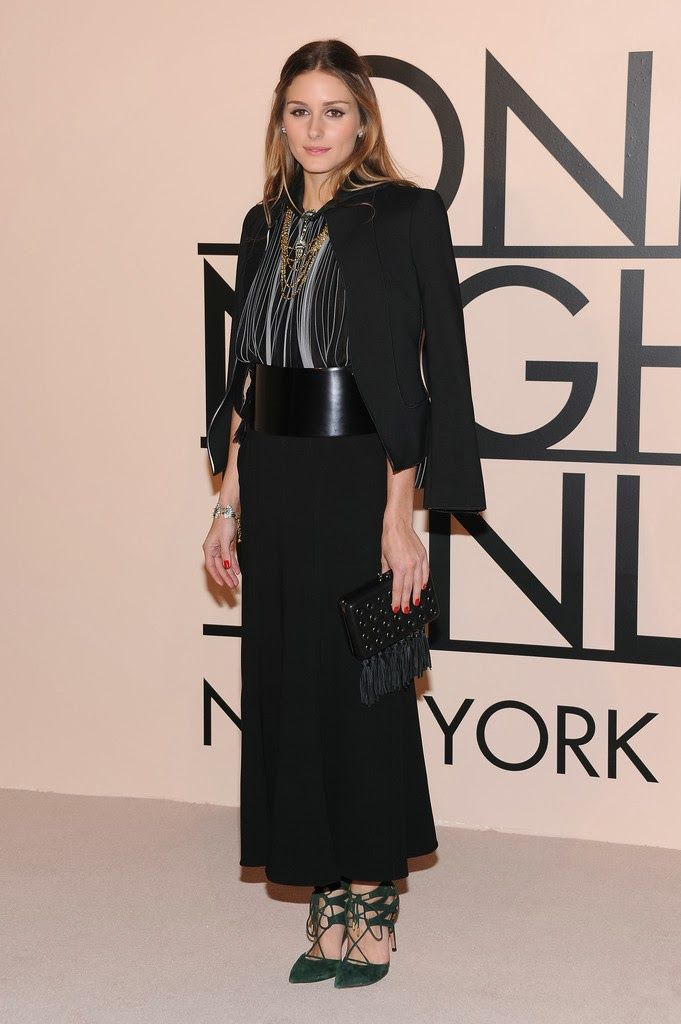 Olivia Palermo At Giorgio Armani One Night Only NYC at SuperPier in New York City.
